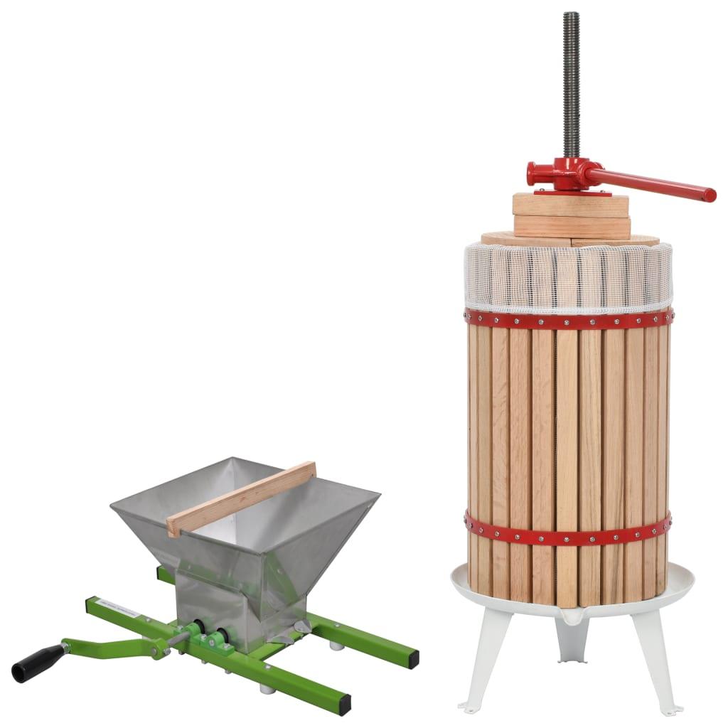 2-osaline puuvilja- ja veinipressi ning purustaja..