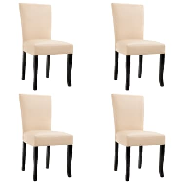 4 esszimmerstühle kunstleder creme