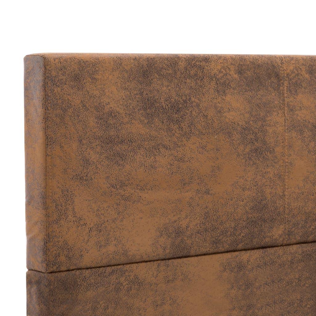 vidaXL Bedframe kunstsuède bruin 160x200 cm