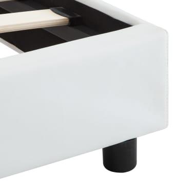 vidaXL Cadre de lit avec LED Blanc Similicuir 140 x 200 cm[7/9]