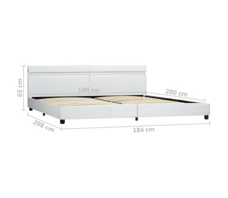 vidaXL Cadre de lit avec LED Blanc Similicuir 180 x 200 cm[9/9]