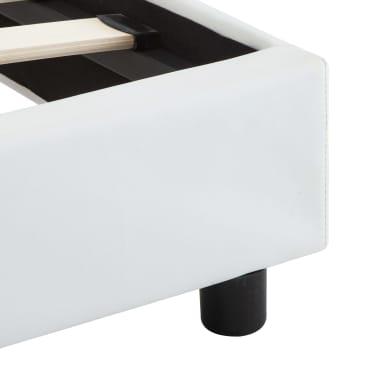 vidaXL Cadre de lit avec LED Blanc Similicuir 180 x 200 cm[7/9]