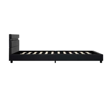 vidaXL Cadre de lit avec LED Noir Similicuir 140 x 200 cm[6/9]