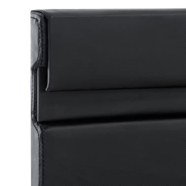 vidaXL Cadre de lit avec LED Noir Similicuir 140 x 200 cm[7/9]