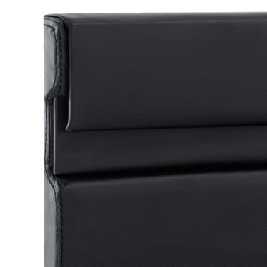 vidaXL Cadre de lit avec LED Noir Similicuir 160 x 200 cm[7/9]