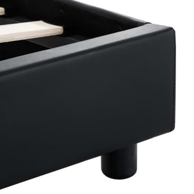 vidaXL Cadre de lit avec LED Noir Similicuir 160 x 200 cm[8/9]