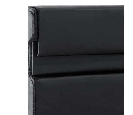 vidaXL Cadre de lit avec LED Noir Similicuir 180 x 200 cm[6/9]
