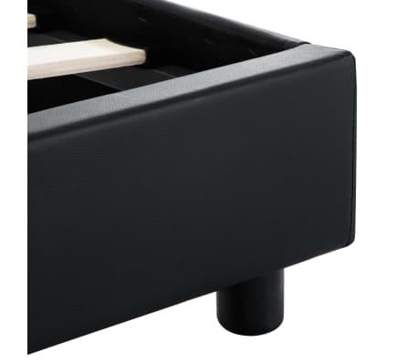 vidaXL Cadre de lit avec LED Noir Similicuir 180 x 200 cm[7/9]