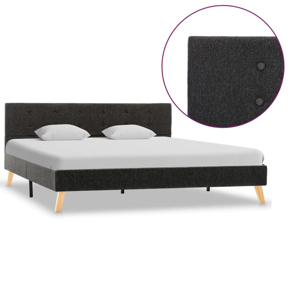 vidaXL sengestel 160 x 200 cm stof mørkegrå