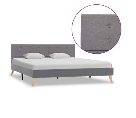 vidaXL Cadre de lit Gris clair Tissu 160 x 200 cm