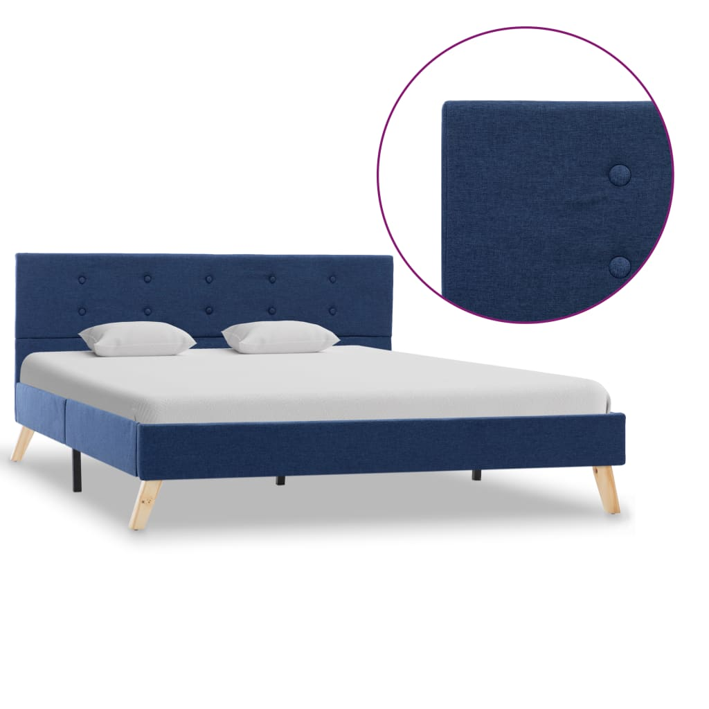 vidaXL sengestel 140 x 200 cm stof blå