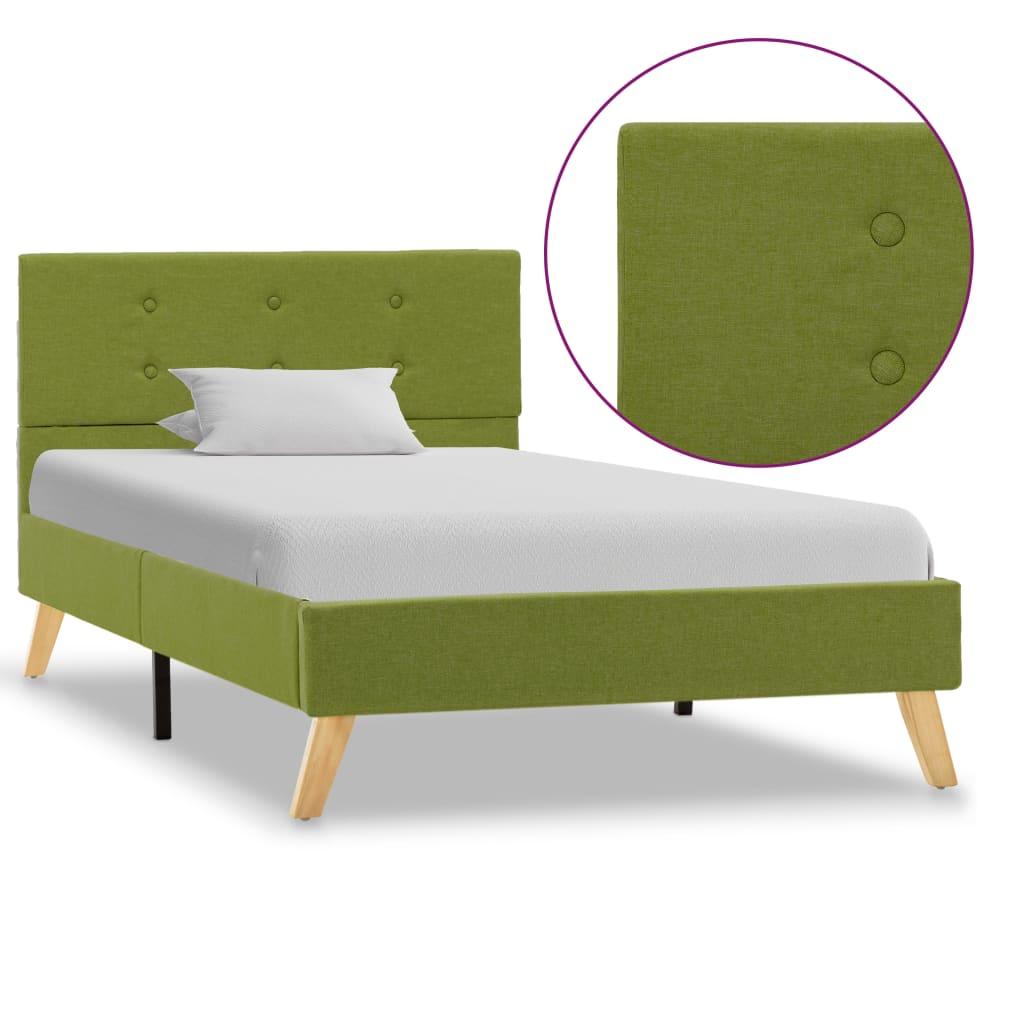 vidaXL Πλαίσιο Κρεβατιού Πράσινο 100 x 200 εκ. Υφασμάτινο