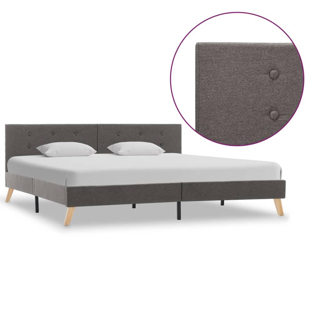vidaXL Cadru de pat, gri taupe, 180 x 200 cm, material textil poza 2021 vidaXL