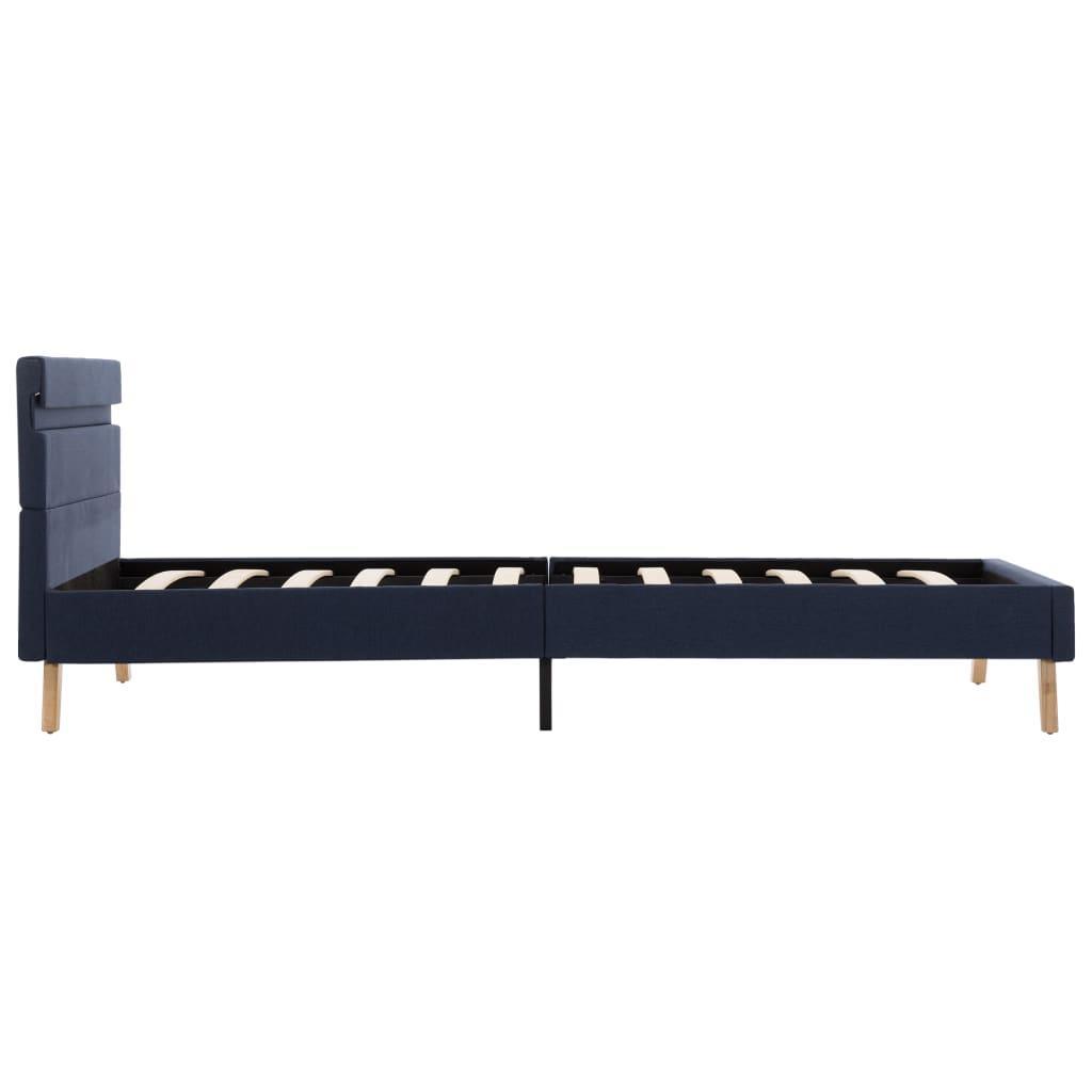 vidaXL Bedframe met LED stof blauw 100x200 cm