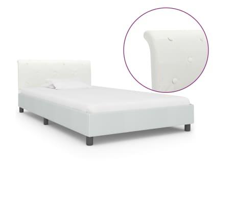 vidaXL Cadre de lit Blanc Similicuir 100 x 200 cm