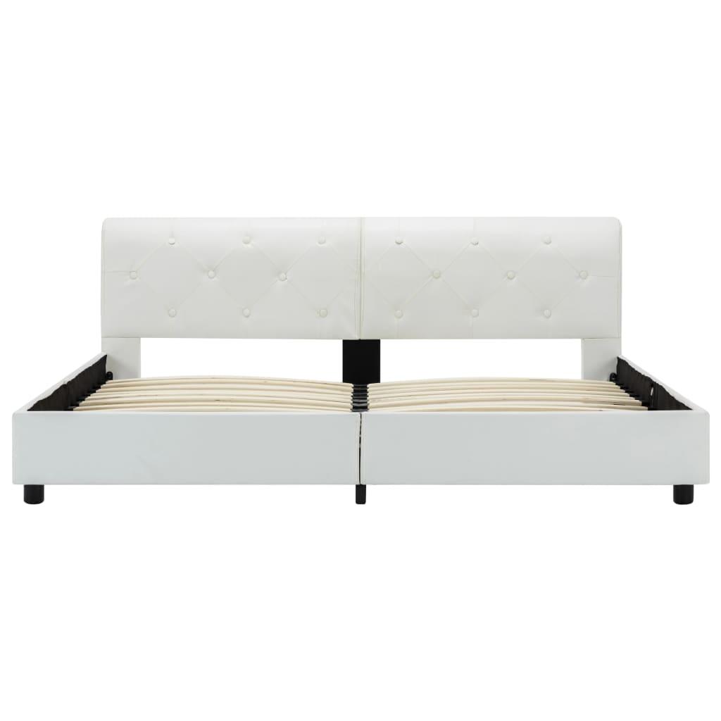 vidaXL Bedframe kunstleer wit 160x200 cm