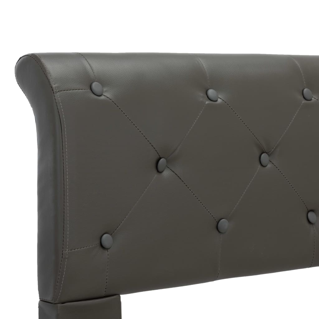 vidaXL Bedframe kunstleer grijs 160x200 cm