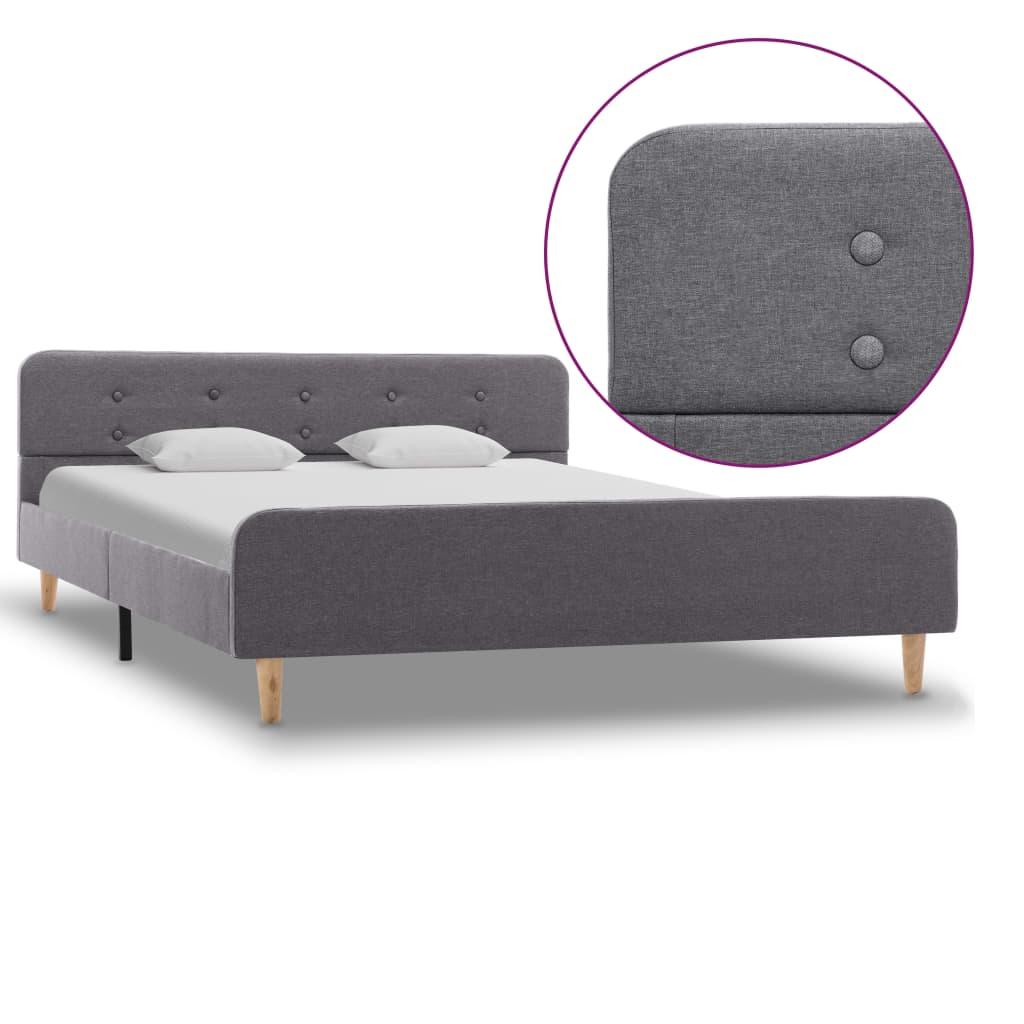 vidaXL Cadru de pat, gri deschis, 160 x 200 cm, material textil poza 2021 vidaXL
