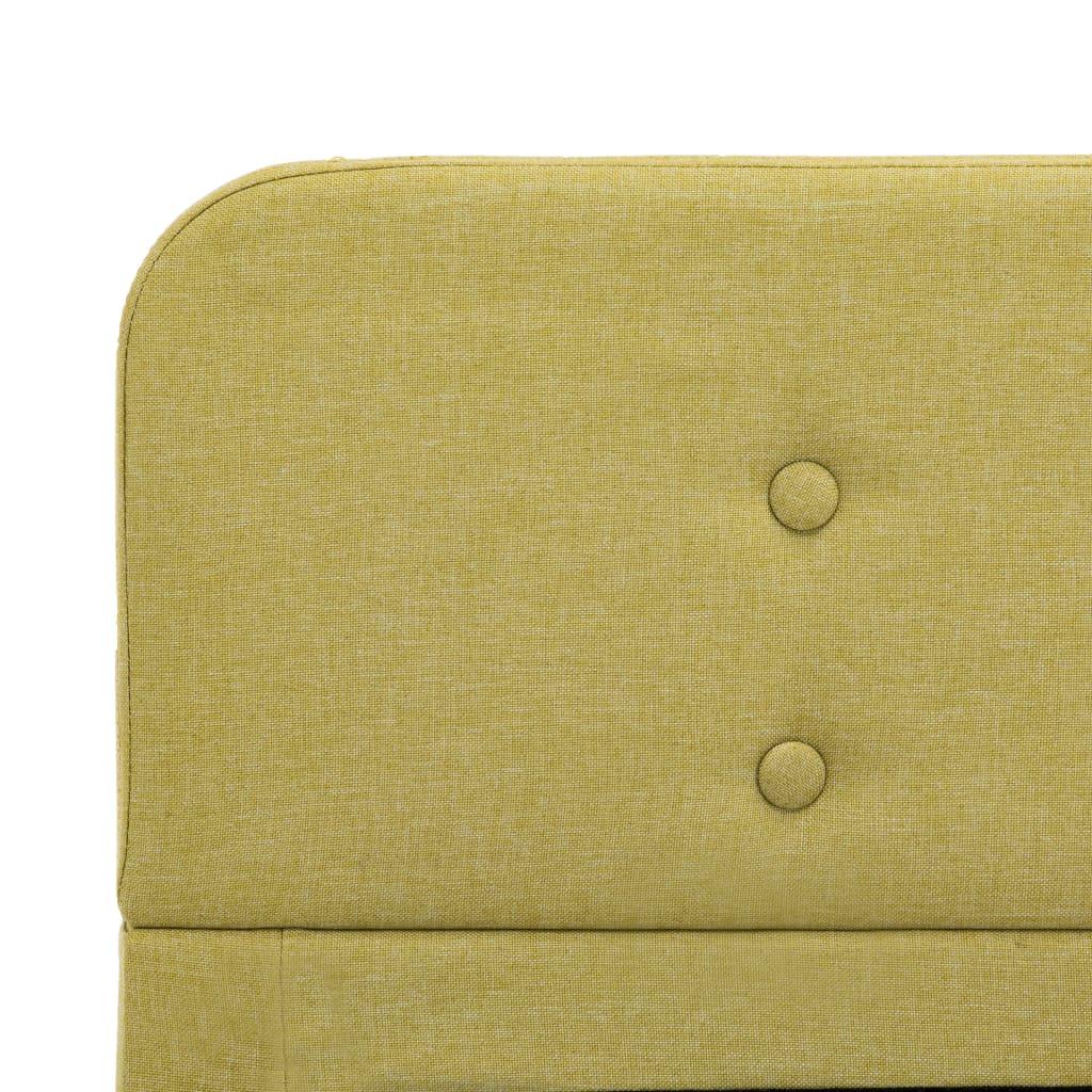 vidaXL Bedframe stof groen 120x200 cm