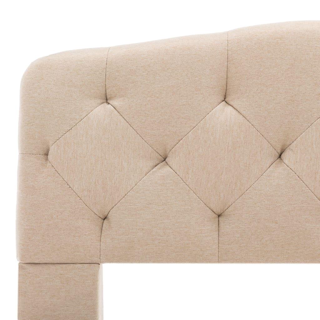 vidaXL Bedframe stof beige 100x200 cm