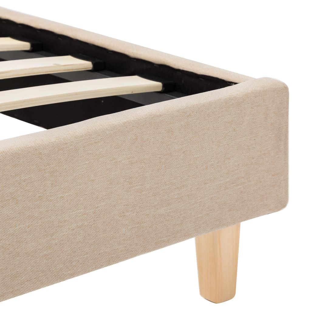 vidaXL Bedframe stof beige 160x200 cm