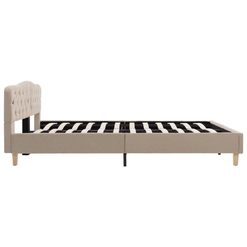 vidaXL Bedframe stof beige 180x200 cm
