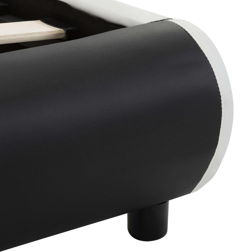vidaXL Bedframe met lades kunstleer zwart 140x200 cm