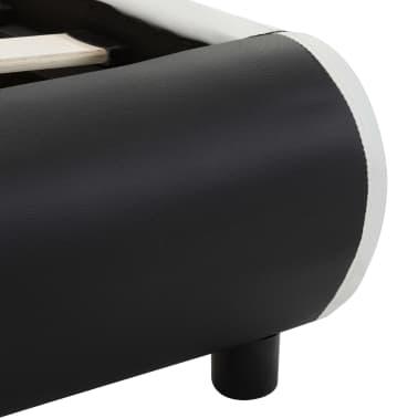 vidaXL Cadre de lit avec tiroirs Noir Similicuir 160x200 cm[8/9]