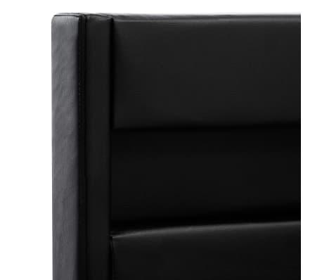 vidaXL Cadre de lit avec LED Noir Similicuir 140 x 200 cm[7/10]