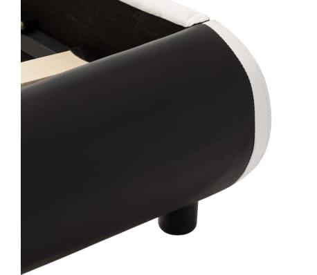 vidaXL Cadre de lit avec LED Noir Similicuir 140 x 200 cm[8/10]
