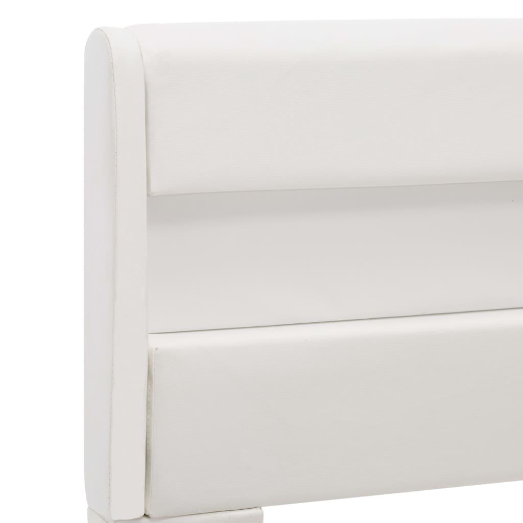vidaXL Bedframe met LED kunstleer wit 90x200 cm