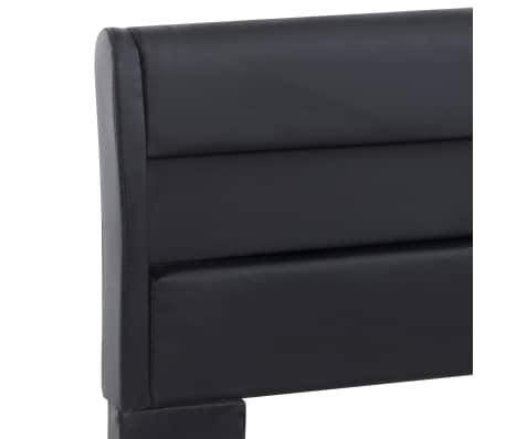 vidaXL Cadre de lit avec LED Noir Similicuir 160 x 200 cm[6/9]
