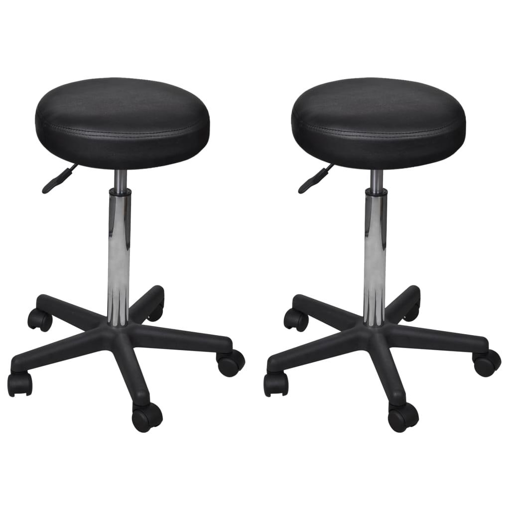 vidaXL Kancelářské stoličky 2 ks černé 35,5 x 98 cm umělá kůže