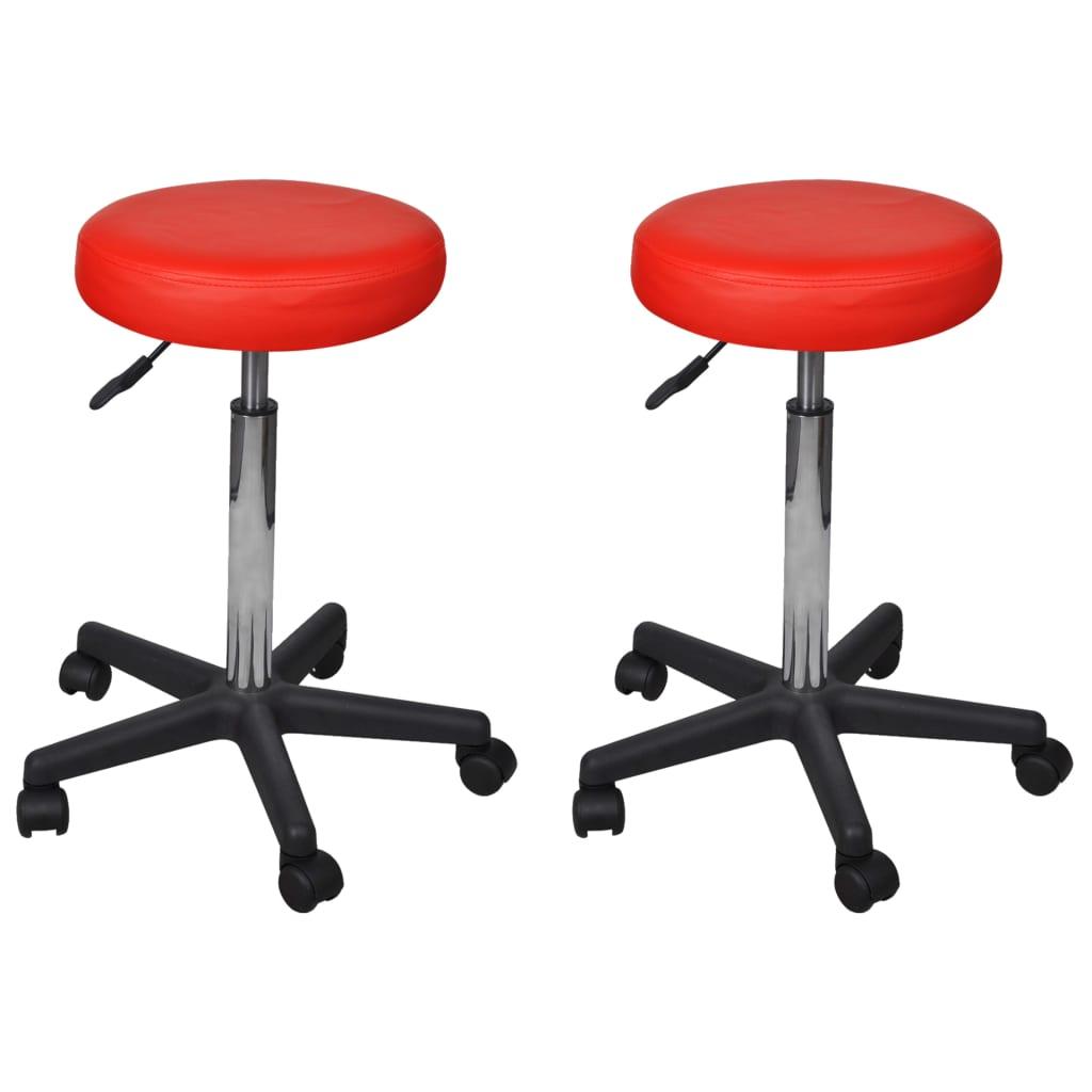 vidaXL Kancelářské stoličky 2 ks červené 35,5 x 98 cm umělá kůže