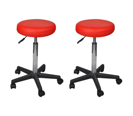vidaXL Office Stools 2 pcs Red 35.5x98 cm Faux Leather[1/5]
