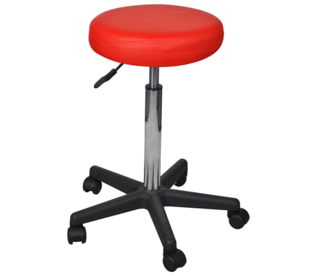 vidaXL Office Stools 2 pcs Red 35.5x98 cm Faux Leather[2/5]