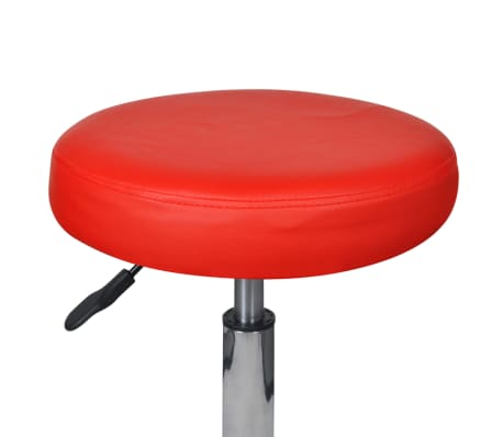 vidaXL Office Stools 2 pcs Red 35.5x98 cm Faux Leather[3/5]