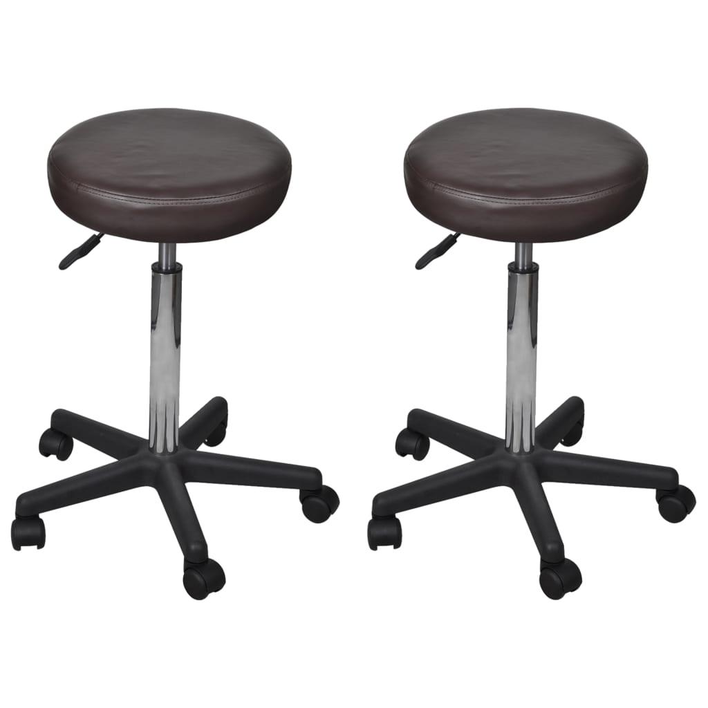 vidaXL Kancelářské stoličky 2 ks hnědé 35,5 x 98 cm umělá kůže