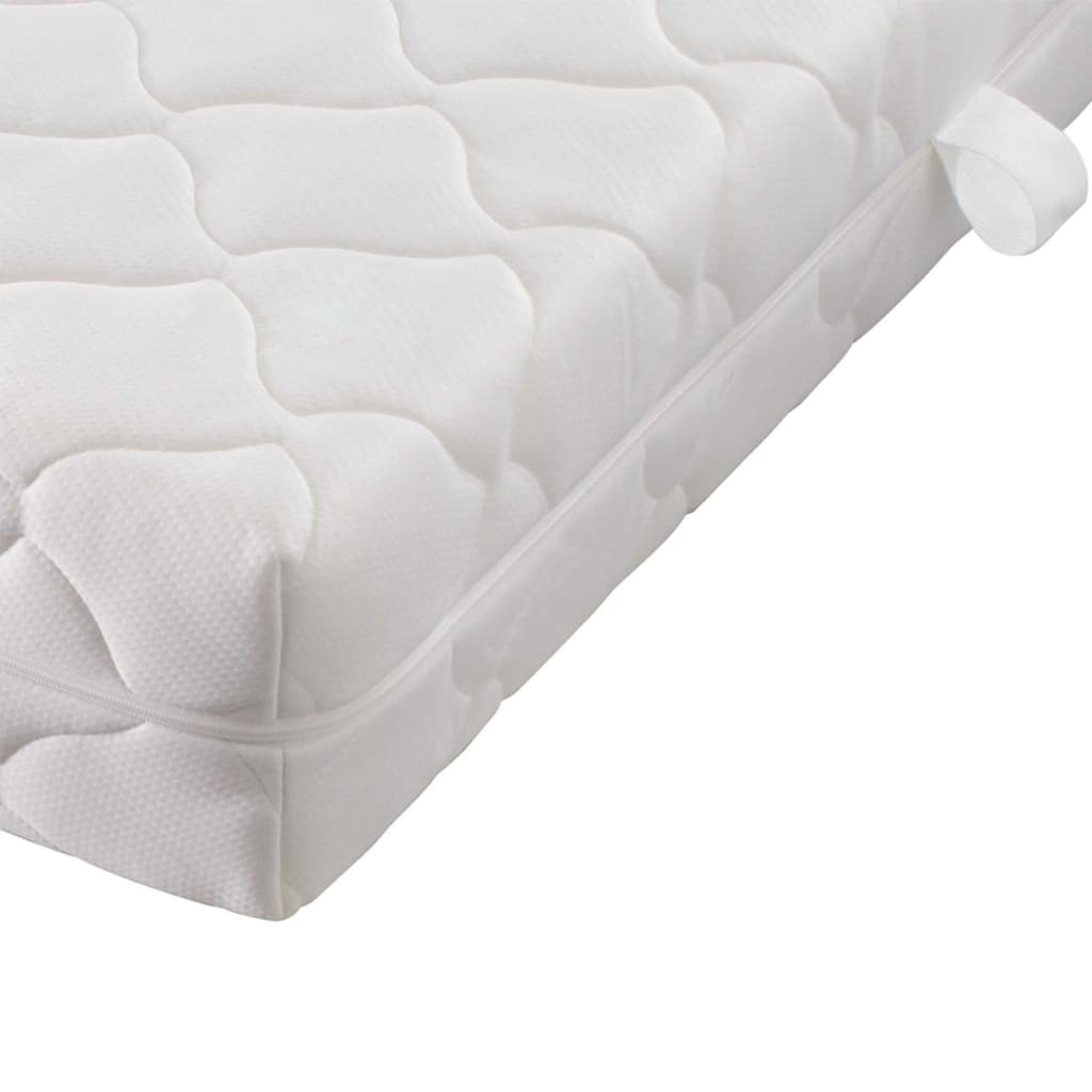 Bed met matras stof beige 120x200 cm