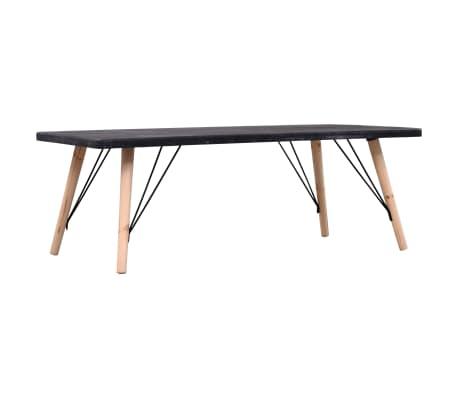vidaXL Table basse Aspect de béton 112x60x41 cm MDF