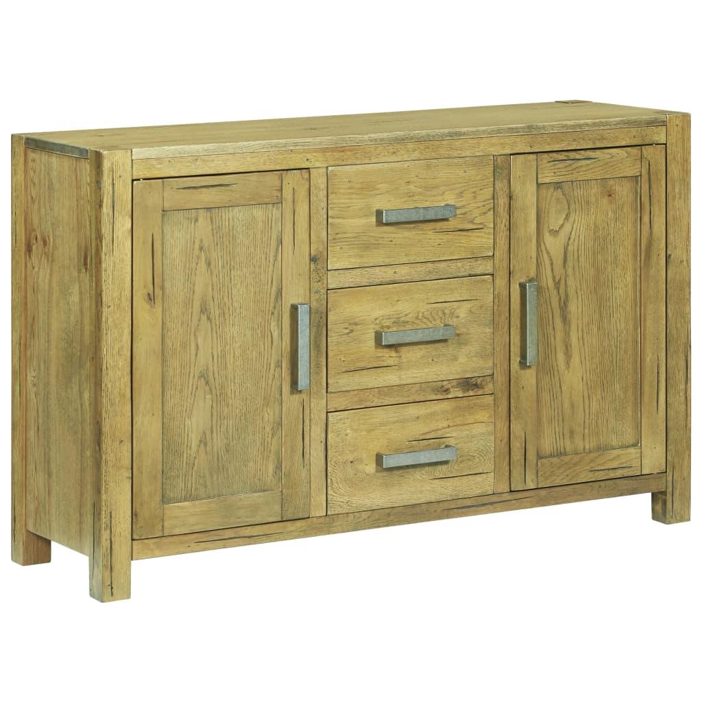 vidaXL Servantă, 110 x 35 x 70 cm, lemn de stejar rustic poza 2021 vidaXL