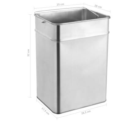 vidaXL Coș de gunoi cu scrumieră, pentru hotel, negru, oțel, 45 L[9/9]