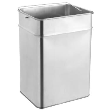 vidaXL Coș de gunoi cu scrumieră, pentru hotel, negru, oțel, 45 L[5/9]