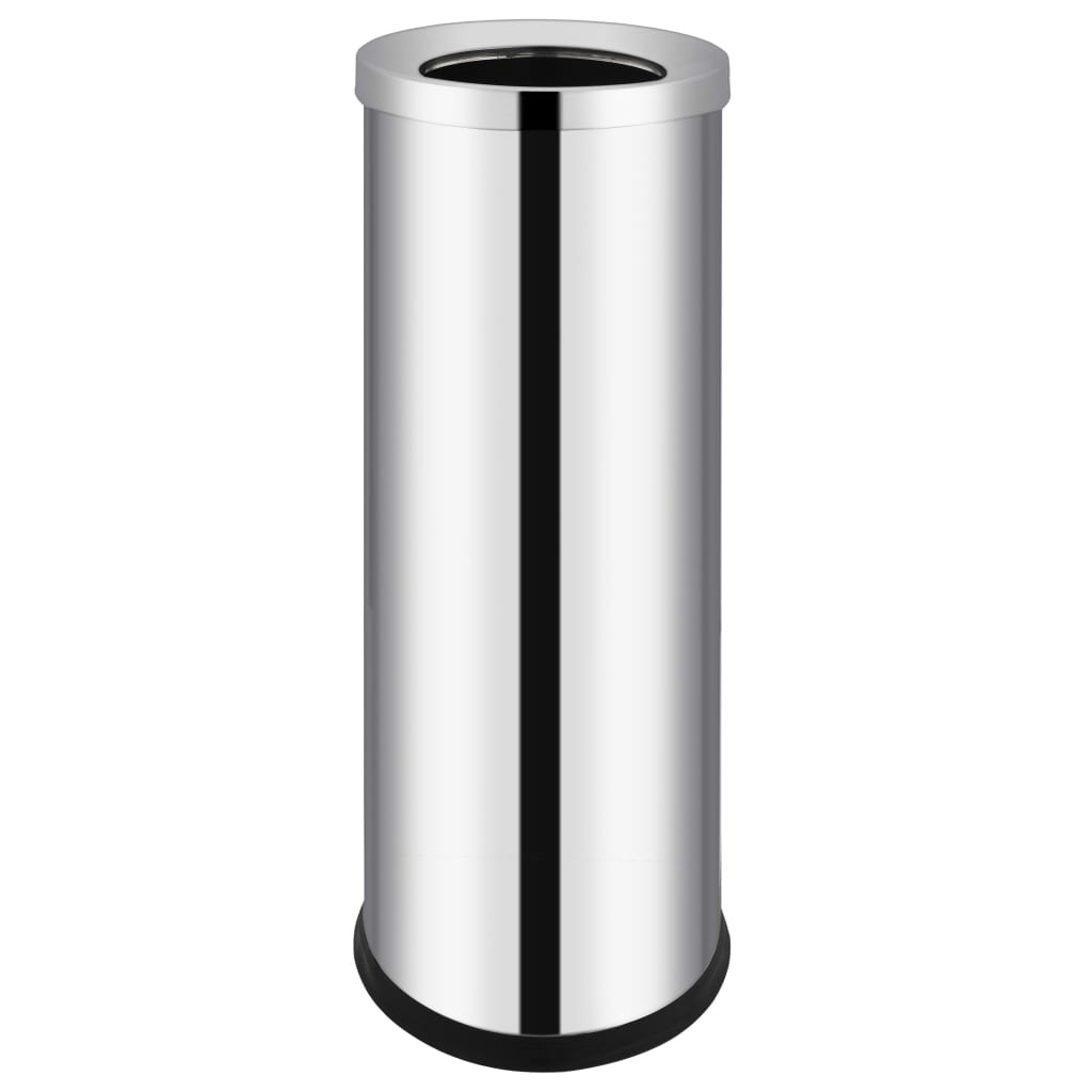 vidaXL Coș de gunoi pentru hotel, 32 L, oțel inoxidabil poza vidaxl.ro