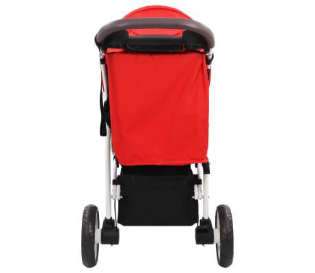 vidaXL Vaikiškas triratis vežimėlis, raudonos ir juodos spalvos[5/10]