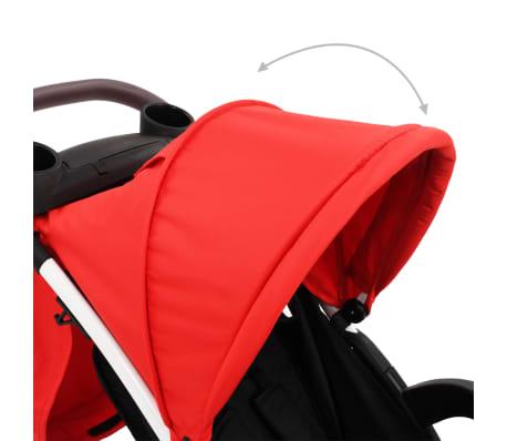 vidaXL Vaikiškas triratis vežimėlis, raudonos ir juodos spalvos[6/10]