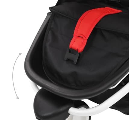 vidaXL Vaikiškas triratis vežimėlis, raudonos ir juodos spalvos[7/10]