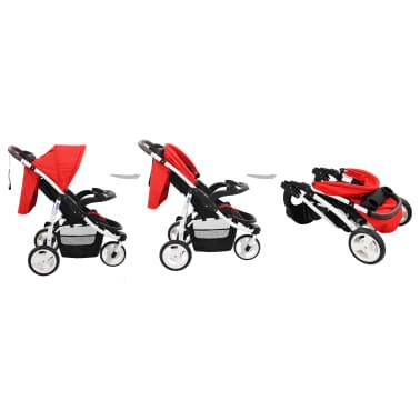 vidaXL Vaikiškas triratis vežimėlis, raudonos ir juodos spalvos[3/10]