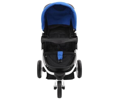 vidaXL Vaikiškas triratis vežimėlis, mėlynos ir juodos spalvos[6/11]