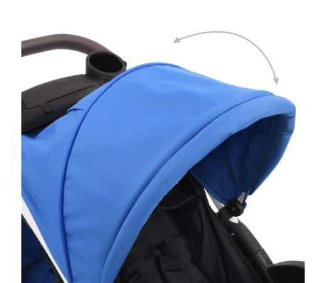 vidaXL Vaikiškas triratis vežimėlis, mėlynos ir juodos spalvos[7/11]